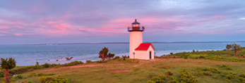 Tarpaulin Cove Lighthouse on Naushon Island at Sunset, Elizabeth Islands, Town of Gosnold, MA