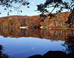 Fall Foliage and Reflections at Lake Skannatati, Harriman State Park