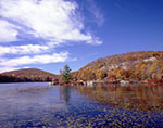 Hogencamp Mountain and Little Long Pond with Lily Pads in Fall, Harriman State Park
