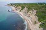 Aerial View of Mohegan Bluffs, Block Island, RI