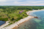 Aerial View of Farmstead on Naushon Island near Tarpaulin Cove, Elizabeth Islands, Town of Gosnold, MA