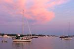 Sunrise over Boats Anchored in Great Salt Pond, Block Island, RI