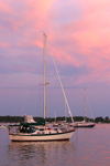Sunrise over Boats Anchored in Great Salt Pond, Block Island, RI