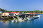 Lobster Boats at Robinson's Wharf in Deckers Cove, Southport, ME