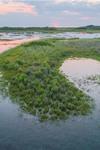 Aerial View of Sunset over Wetlands at Block Island National Wildlife Refuge, Great Salt Pond, Block Island, RI