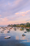 Sunrise over Boats in Mackerel Cove, Casco Bay Region, Bailey Island, Town of Harpswell, ME
