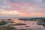 Sunset over Cape Harbor, Southport, ME