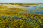 Aerial View of Wetlands on Block Island National Wildlife Refuge, Great Salt Pond, Block Island, RI