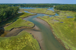 Aerial View of Salt Marshes along York River, York, ME