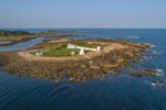 Aerial View of Goat Island Lighthouse, Goat Island, Cape Porpoise, Kennebunkport, ME