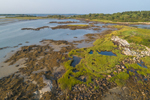 Aerial View of Salt Marshes and Mud Flats on Trott Island, Cape Porpoise Harbor, Cape Porpoise, Kennebunkport, ME