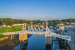 Aerial View of Drawbridge and Boats in The Basin at Perkins Cove, Ogunquit, ME