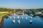 Aerial View of Lobster Boats in The Basin at Perkins Cove, Ogunquit, ME