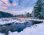Early Winter Sunset at Lawrence Brook, Royalston, MA