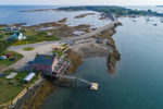 Aerial View of Cribstone Bridge between Orr's and Bailey Islands Spanning Will's Gut, Casco Bay Region, Town of Harpswell, ME