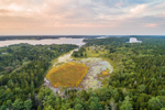 Aerial View of Wilson Pond and Marshes on Orr's Island, Town of Harpswell, ME