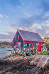 Lobster Shack at Mackerel Cove in Early Morning Light, Casco Bay Region, Bailey Island, Town of Harpswell, ME