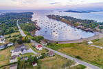 Aerial View of Bailey Island and Mackerel Cove Out to Casco Bay, Town of Harpswell, ME