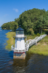 Doubling Point Lighthouse on Kennebec River, Arrowsic, ME