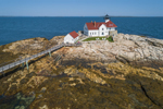 Aerial View of The Cuckolds Light Station, The Cuckolds Islands, Southport, ME