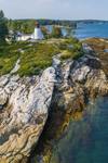 Aerial View of Burnt Island Lighthouse, Burnt Island, Southport, ME