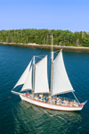 "Schooner ""Eastwind"" Under Full Sail Making Way to Boothbay Harbor, Boothbay Harbor, ME"