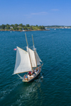 "Schooner ""Lazy Jack"" Under Full Sail Making Way to Boothbay Harbor, Boothbay Harbor, ME"