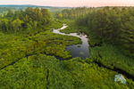Aerial View of Tributary of Scott Brook and Headwaters of Stone Pond, Fitzwilliam, NH