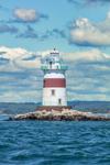 Latimer Reef Lighthouse, Fishers Island Sound, Suffolk County, Southold, NY