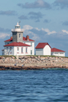 Watch Hill Lighthouse Viewed from Waters of Block Island Sound, Watch Hill, Westerly, RI