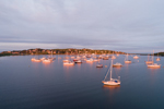 First Light Shines on Boats in Cuttyhunk Pond, Cuttyhunk Island, Elizabeth Islands, Town of Gosnold, MA