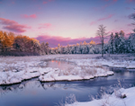 Early Winter Sunrise at Lawrence Brook, Royalston, MA