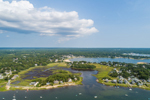 Aerial Vew of Patuisset and Hen Cove, Pocasset Harbor in Foreground, Cape Cod, Town of Bourne, MA