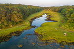 Aerial View of Salt Marshes at Northwest Gutter in Early Morning Light, Naushon Island, Elizabeth Islands, Town of Gosnold, MA