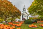 Pumpkins at First Congregational Church, United Church of Christ, Cape Cod, Chatham, MA