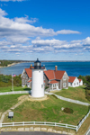 Aerial View of Nobska Point Light, Cape Cod, Falmouth, MA