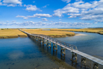 Sandwich Boardwalk over Mill Creek at Boardwalk Beach, Cape Cod, Sandwich, MA