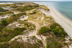 Aerial View of Dunes at Chapin Memorial Beach, Cape Cod, Dennis, MA