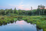 Falls Brook and Wetlands at Sunset, Richmond, NH