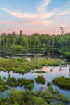 Wetlands along Falls Brook at Sunset, Richmond, NH