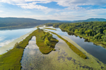 Aerial View of Connecticut River, Hinsdale, NH