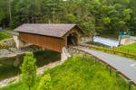 Green River Pumping Station Covered Bridge, aka Eunice Williams Covered Bridge, Spanning Green River, Greenfield, MA
