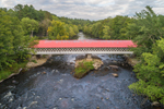 Ashuelot Covered Bridge (Built 1864) over Ashuelot River, Village of Ashuelot, Winchester, NH