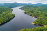 Harriman Reservoir with Green Mountains in Distance, Whitingham, VT