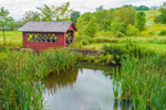 Red Covered Bridge at Little Bridge Farm, Wilmington, VT