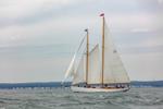 "Schooner ""Brilliant"" under Full Sail on Long Island Sound off New London, CT"