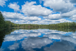 Dramatic Cloud Reflections at Beaver Pond, Birch Hill Recreation Area, Royalston, MA