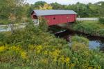 1789 Carleton Bridge in Summer, Rebuilt 1869 (#7), South Branch Ashuelot River, Swanzey, NH