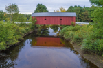 1789 Carleton Bridge in Summer, Rebuilt 1869 (#7), South Branch Ashuelot River, Swanzey, NH