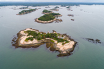 Aerial View of the Thimble Islands, Long Island Sound, Branford, CT